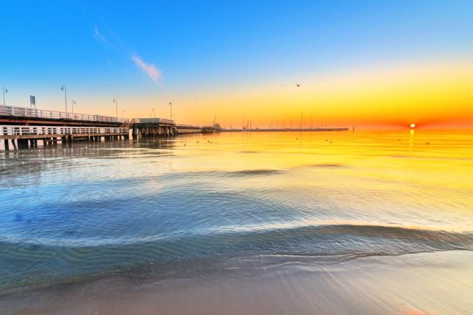 """Wer träumt nicht von einem Sonnenuntergang am Strand. Erleben kann man diesen tollen """"Sundown"""" am Sopot Strand in Polen. (#2)"""