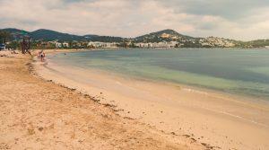 Das ist Talamanca Beach, einer der schönsten Strände von Ibiza. Das Gückshotel Ibiza buchen wir blind, aber die Strände suchen wir uns sehr gezielt aus. (#2)